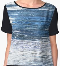 Metallic blue abstract watercolor background Chiffon Top