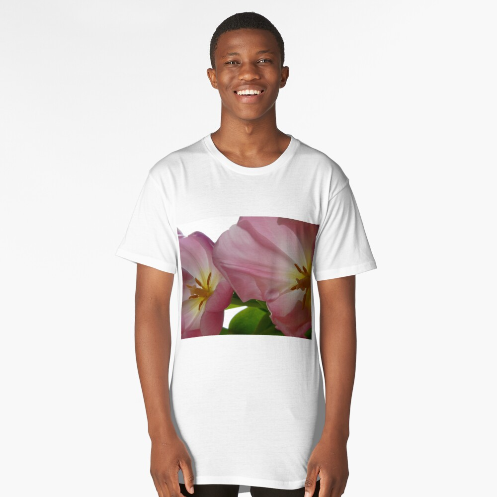 Fading Pink Tulips Long T-Shirt Front