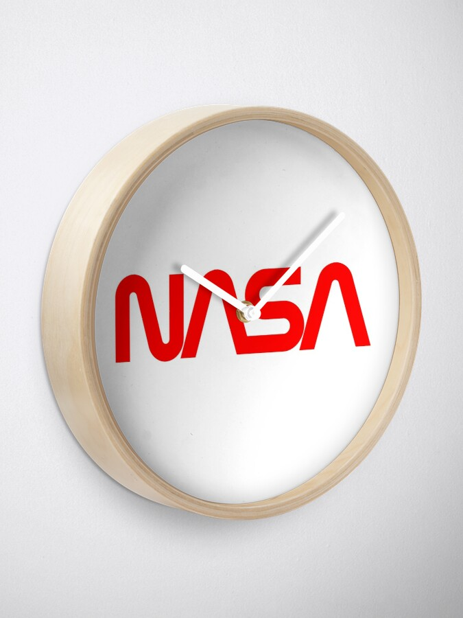 Alternate view of NASA Worm Logo Clock