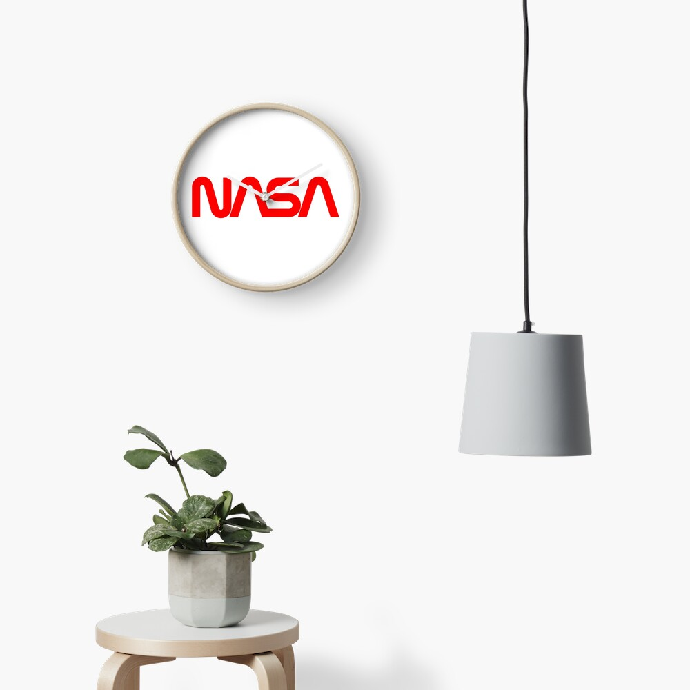 NASA Worm Logo Clock