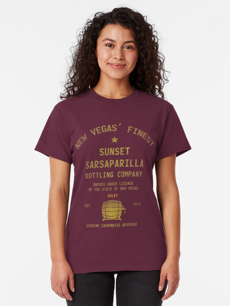 Alternate view of Sunset Sarsaparilla Classic T-Shirt
