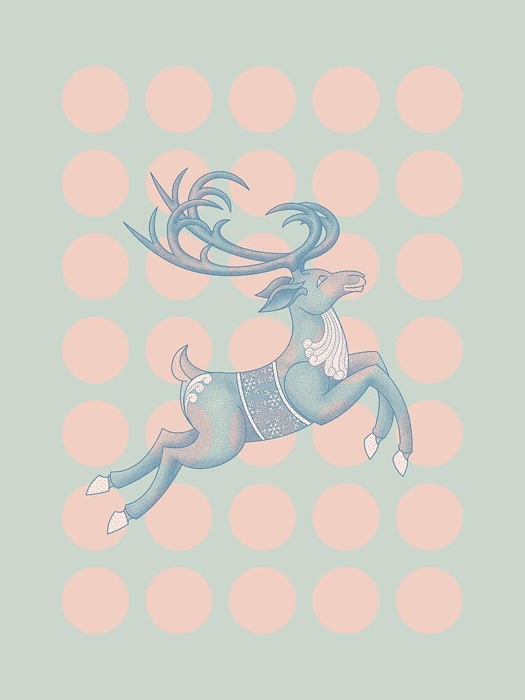 Flying Reindeer n' Dots by Thoth-Adan