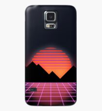 "80s Retro Grid & Rising Sun - ""Event Horizon"" Case/Skin for Samsung Galaxy"