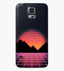 """80er Retro Grid & aufgehende Sonne - """"Event Horizon"""" Hülle & Klebefolie für Samsung Galaxy"""
