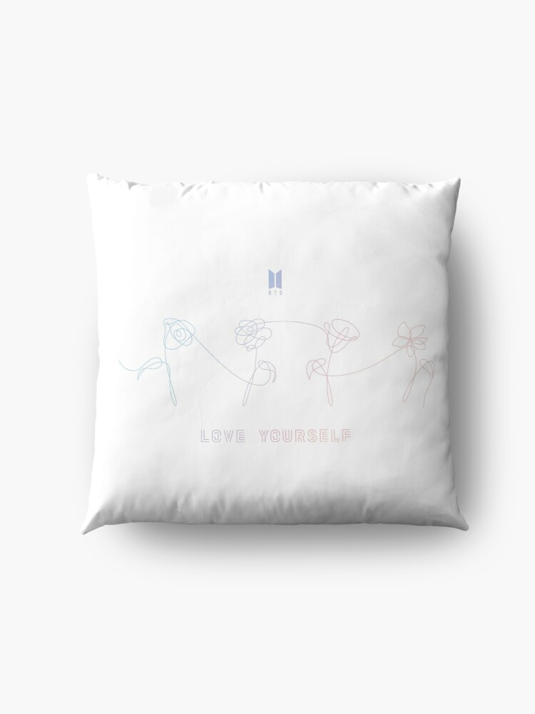 Bts love yourself flowers all white floor pillows by yoshfridays bts love yourself flowers all white by yoshfridays solutioingenieria Images