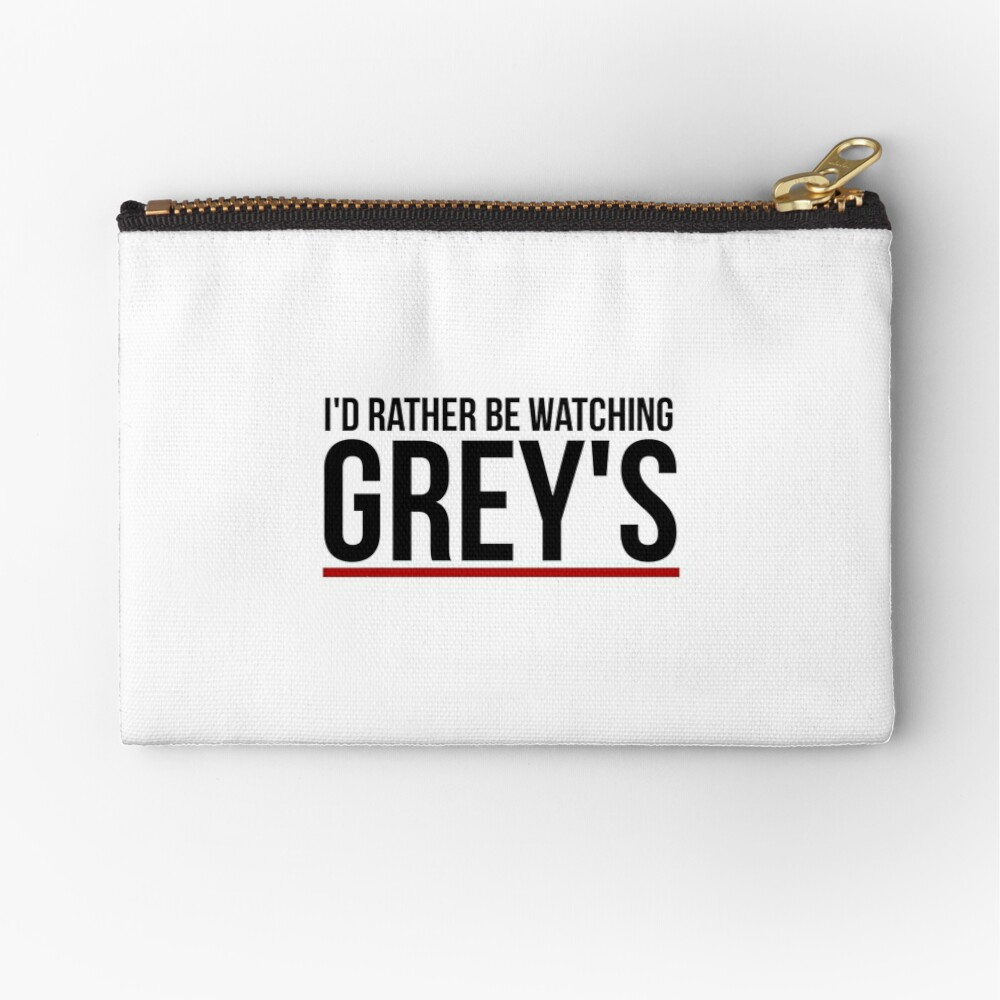 rather be watching grey's Zipper Pouch