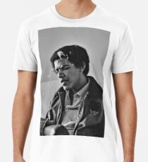 Young Barack Obama - Smoking Print Men's Premium T-Shirt