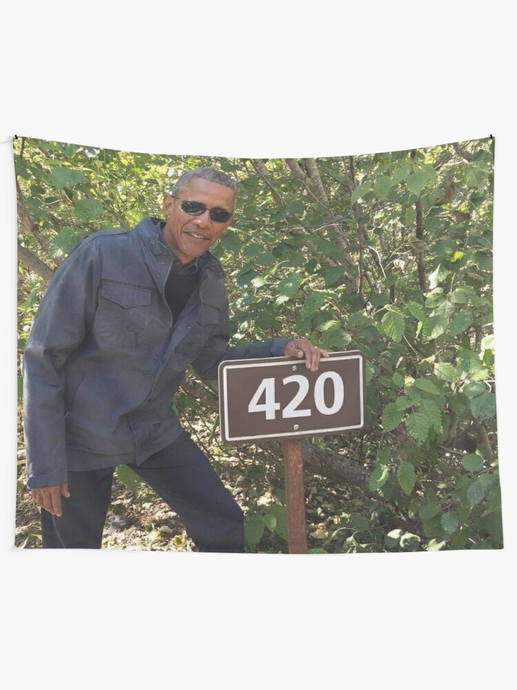 Alternate view of 420 Obama Print Wall Tapestry