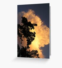 August Thunder Greeting Card