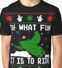 Snowmobile Ugly Christmas Graphic T-Shirt