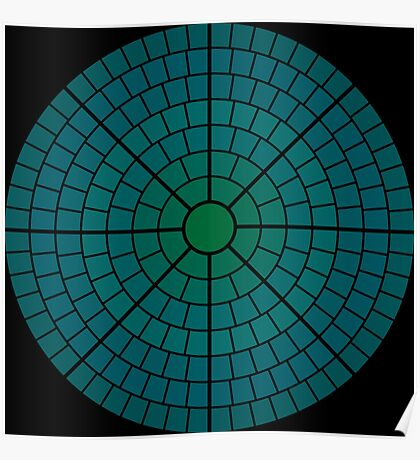 NDVH Circle One - teal Poster