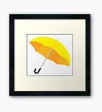 Yellow Umbrella Framed Print