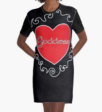 Goddess BDSM Burning Heart Design by Dirk Hooper Graphic T-Shirt Dress