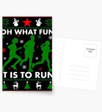 Oh, was für ein Spaß es ist, zu laufen Postkarten