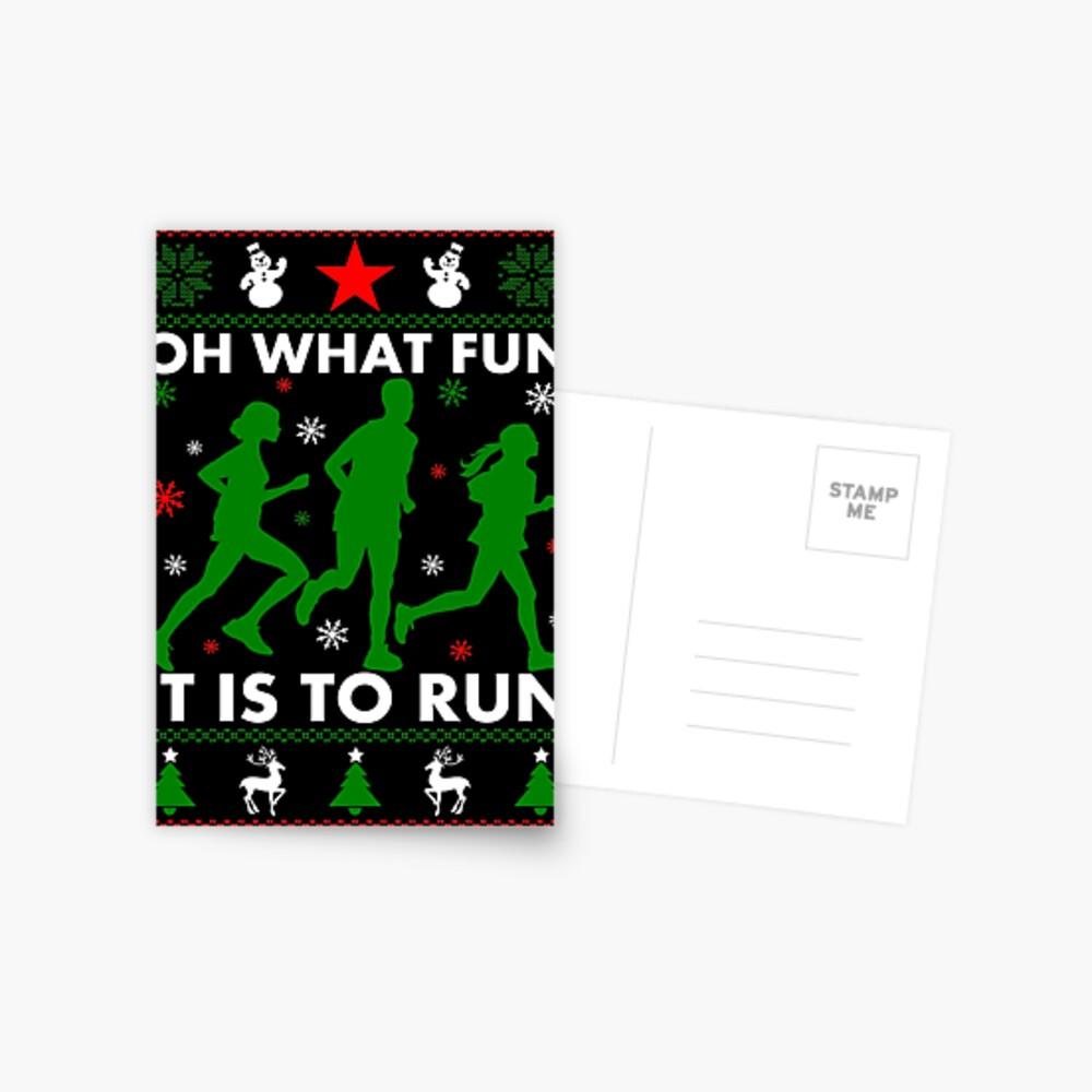 Oh, was für ein Spaß es ist, zu laufen Postkarte