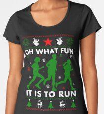 Oh What Fun It Is To Run Women's Premium T-Shirt