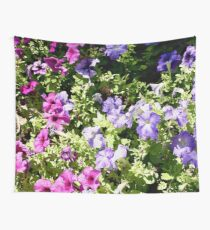 Pretty Pink & Purple Petunias Wall Tapestry