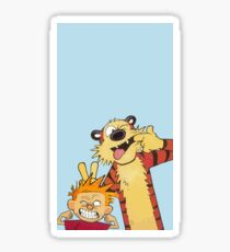 Calvin and Hobbes shirt  Sticker