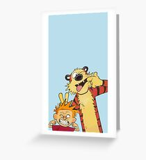Calvin and Hobbes shirt  Greeting Card