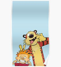 Calvin and Hobbes shirt  Poster