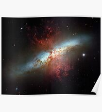 Hubble Space Telescope Print 0007 - Starburst Galaxy M82 - hs-2006-14-a-full_jpg Poster