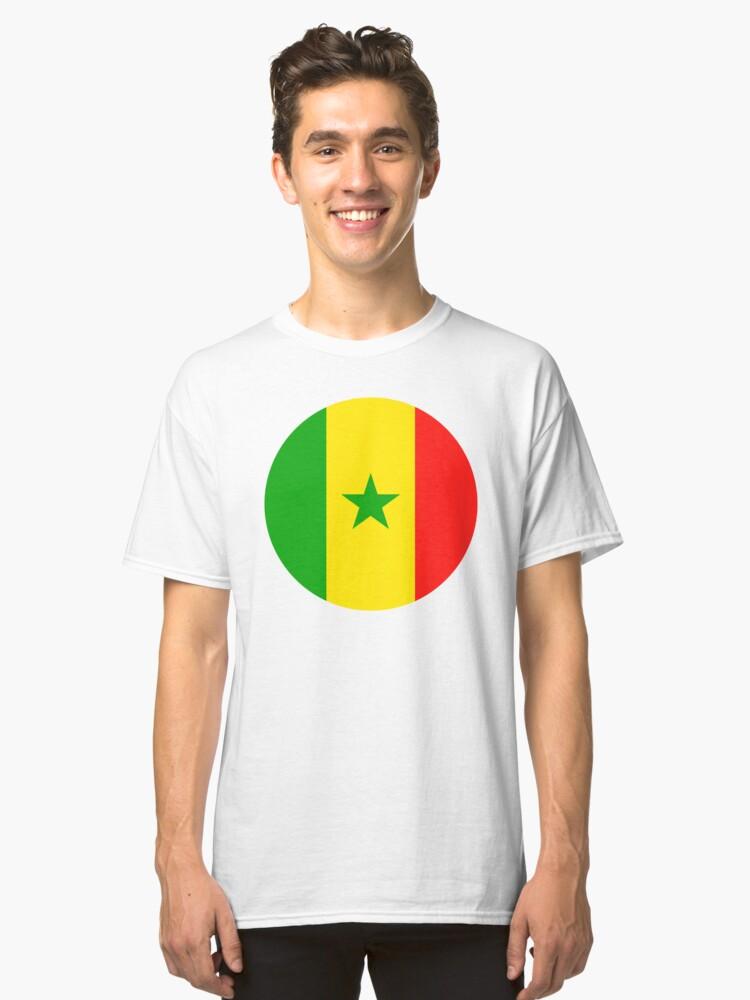 Senegal Men's Classic Flag Tee NtqUALVDDp