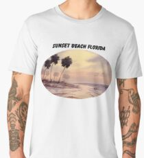 Sunset Beach Tarpon Springs Florida Men's Premium T-Shirt