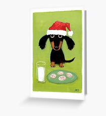 Doxie Clause Santa Dachshund Greeting Card