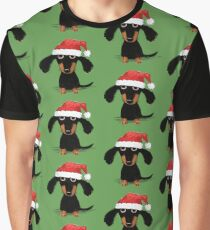 Doxie Clause Santa Dachshund Graphic T-Shirt