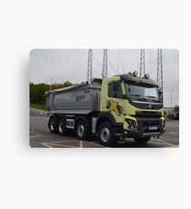 Construction truck Volvo FMX Canvas Print