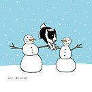 Winter Fun Border Collie by Jenn Inashvili