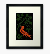 Woodcut birds Framed Print