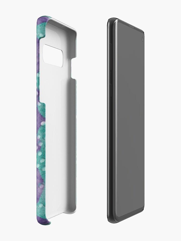 Alternative Ansicht von Teal und Lila Boho Perlen Hülle & Klebefolie für Samsung Galaxy