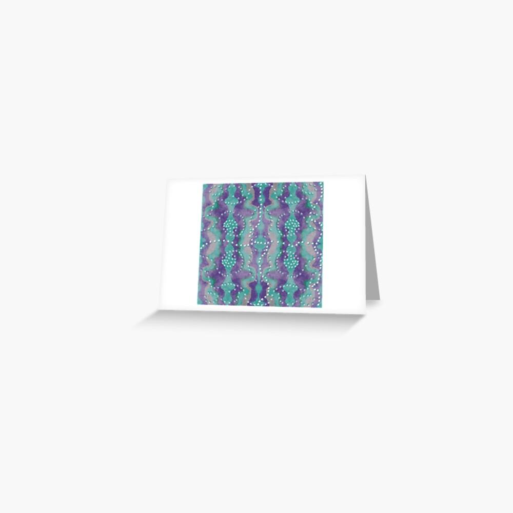 Teal und Lila Boho Perlen Grußkarte