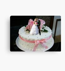 The Ultimate Wedding Cake Topper Canvas Print