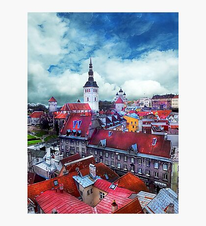 Tallinn art 3 #tallinn #city  Photographic Print