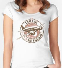 Lao Che Air Freight White Variant Women's Fitted Scoop T-Shirt