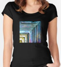 Abstract Bismuth Women's Fitted Scoop T-Shirt