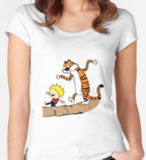 Calvin & Hobbes  Women's Fitted Scoop T-Shirt