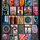 Coloured Alphabet Print by Abba Richman