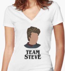 Team Steve Women's Fitted V-Neck T-Shirt