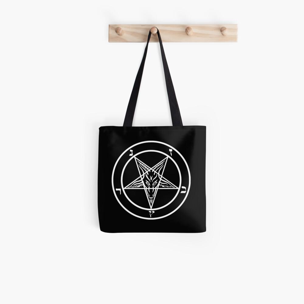 Inverted Pentagram mit Siegel von Baphomet Goat Head Tote Bag
