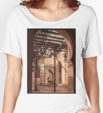 Vintage photo of a middle eastern house Women's Relaxed Fit T-Shirt