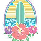 Surf Paradise Color T Shirt by Fangpunk