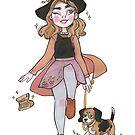 Dog Walker Witch Illustration by MangoDoodles