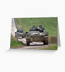 British Army Warrior Infantry Fighting Vehicle Greeting Card