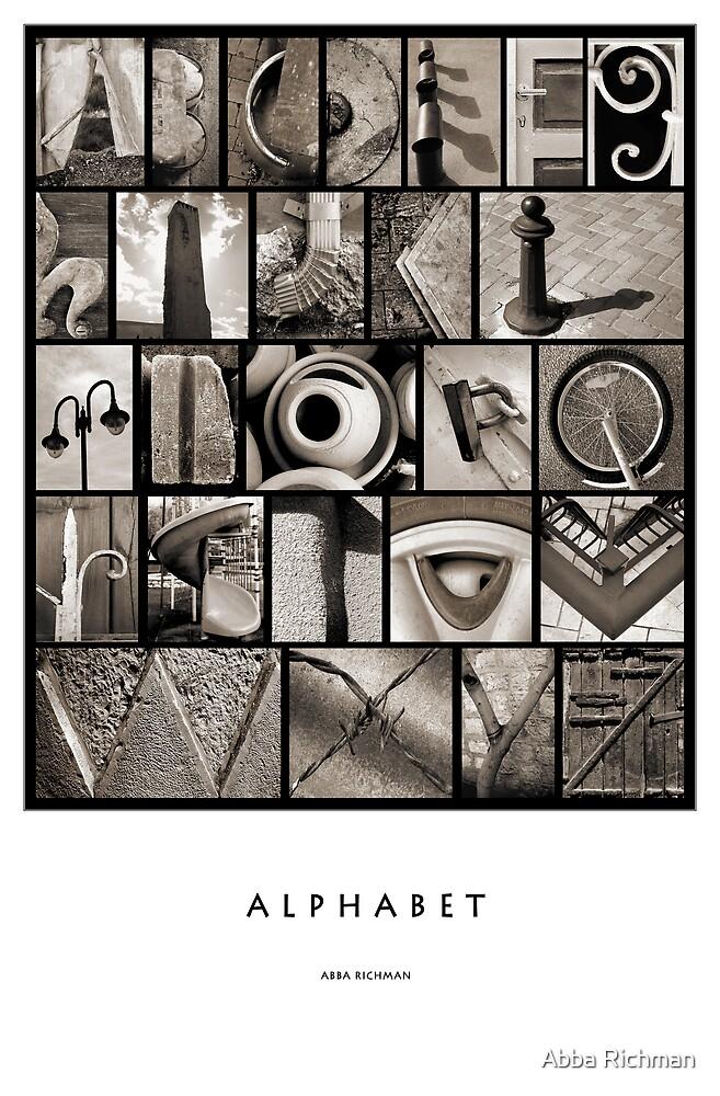 Alphabet Monochrome Poster 2 by Abba Richman