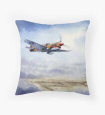 P-40 Warhawk Aircraft Throw Pillow