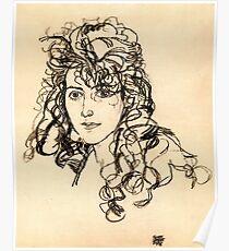 "Egon Schiele ""Girl's head"", 1918 Poster"