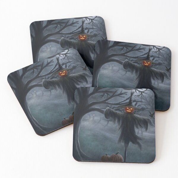 Scarecrow Coasters (Set of 4)